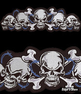 "ECUSSON/PATCH - LETHAL THREAT - LT STRING OF SKULLS PATCH - TAILLE : 12.3 "" x 3.5 "" ( 31.24 cm x 8.89 cm )"
