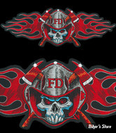 "ECUSSON/PATCH - LETHAL THREAT - LT FIREMAN SKULL PATCH - TAILLE : 11.25"" X 5"" ( 28.57 CM X 12.70 CM )"