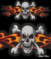 """ECUSSON/PATCH - LETHAL THREAT - LT FLAME SKULL - TAILLE : 6.5"""" X 2.6"""" ( 16.51 CM X 6.60 CM )"""