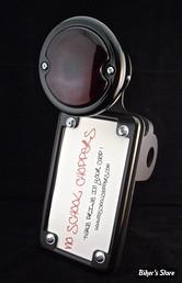Plaque laterale No School Choppers - Axe de roue - Verticale - Feu Ford 33/36 - Noir