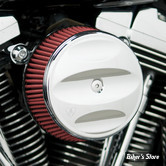 - FILTRE A AIR - ARLEN NESS - BIG SUCKER AIR FILTER KIT AVEC COUVERCLE - STAGE 1 - TOURING 02/07 / SOFTAIL 01/15 / DYNA 04/17 / TWINCAM CARBU CV 99/06 - FILTRE STANDARD - SCALLOPED  CHROME - 18-809