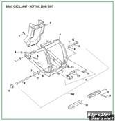 ECLATE O - PIÈCE N° 00 - ECLATE DES PIECES DE BRAS OSCILLANT - SOFTAIL 2000/2017