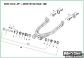 ECLATE O - PIÈCE N° 00 - ECLATE DES PIECES DE BRAS OSCILLANT - SPORTSTER 1954 / 1981