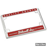 ENTOURAGE DE PLAQUE - FORMAT US 17.5CM X 10CM - BILTWELL - LICENSE FRAME - LICENSE FRAME - QUALITY COUNTS RED/CREAM