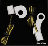 CLIGNOS HEINZ BIKES - NANO SERIES LED TURN SIGNALS  - SOFTAIL 15/17 - 1 FONCTION - CORPS CHROME / CABOCHON CHROME - HBTSN-FL15-C