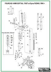 ECLATE N - PIECE N° 00 - ECLATE DES PIECES DE FOURCHE - SOFTAIL FXST / FXDWG