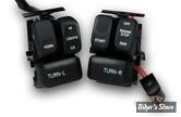 Interrupteurs de guidon - 96up - Complet - Noir/Blanc