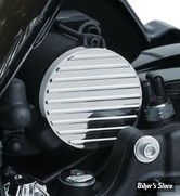 ECLATE AM8 - PIECE N° 30 - CACHE DÉMARREUR - KURYAKYN - TOURING MILWAUKEE-EIGHT® 17UP - Finned Starter End Accent - CHROME - 9264