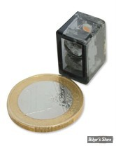 CLIGNOTANT A LEDS - CUSTOM CHROME - LED MICRO CUBE - LENTILLE : FUMEE - INSTALLATION : ARRIERE / VERTICAL