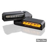 CLIGNOS HEINZ BIKES - LED Turn Signals Front - DYNA/SOFTAIL/TOURING 96> - 1 FONCTION clignotant - NOIR