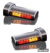 CLIGNOS DE SABRE - HEINZ BIKES - LED Winglets Turn Signals - 3 FONCTIONS clignotant / STOP / Position - NOIR