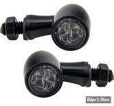 CLIGNOTANT A LEDS - CUSTOM CHROME - PARADOX - 1 FONCTION - LED - NOIR - CABOCHON FUME