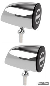 CLIGNOTANT A LEDS - HIGHSIDER - Rocket Classic Taillight/Brake Light LED - 2 FONCTIONS - CORPS CHROME / CABOCHON FUME