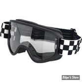 LUNETTES MOTO - BILTWELL - MOTO 2,0  - CHECKERS - VERRES : TRANSPARENTS - COULEUR : NOIR / BLANC - 2101-5101-014