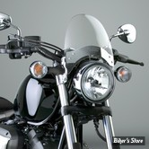 Saute Vent National Cycle USA - Fly Screen - 44/50 mm - SUPPORT : CHROME  / ECRAN : TEINTE CLAIR LIGHT GRAY 26% TINT - N2554-001