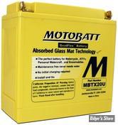 BATTERIE - 65989-97C - MOTOBATT BATTERIE MBTX20UHD - JAUNE