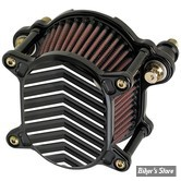 - FILTRE A AIR - JOKER MACHINE - OMEGA AIR CLEANER ASSEMBLIE - SPORTSTER 07UP - V FIN - NOIR ANODISE / ARGENT