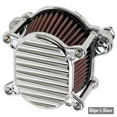 - FILTRE A AIR - JOKER MACHINE - OMEGA AIR CLEANER ASSEMBLIE - SPORTSTER 07UP - FINNED - CHROME