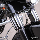 ECLATE N - PIECE N° 68 - COUVRES TUBES DE FOURCHE PAUL YAFFE - Bagger nation - Yafterburner - FLHT86UP - NOIR