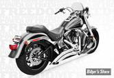 ECHAPPEMENT FREEDOM PERFORMANCE - SHARP CURVE RADIUS - 2 EN 2 - SOFTAIL 86UP - CHROME - AVEC CHICANES SILENCIEUSES