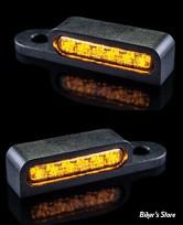 CLIGNOS HEINZ BIKES - LED Turn Signals Front - SOFTAIL 15/17 - 1 FONCTION clignotant - NOIR