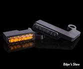 1 - CLIGNOS HEINZ BIKES - LED Turn Signals Front - SPORTSTER 96/13 - 1 FONCTION clignotant - NOIR