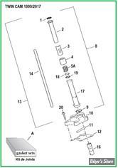 ECLATE H - PIECE N° 00 - ECLATE PIECES TIGES CULBUTEURS - TWINCAM 99/17