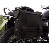 BURLY - SACOCHES BURLY - VOYAGER THROW-OVER SADDLEBAGS - COULEUR : DARK OAK -