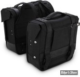 BURLY - SACOCHES BURLY - VOYAGER THROW-OVER SADDLEBAGS - COULEUR : NOIR - B15-1002B