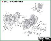 ECLATE J - PIECE N° 00 - ECLATE PIECES CARTER MOTEUR - SPORTSTER 91/03