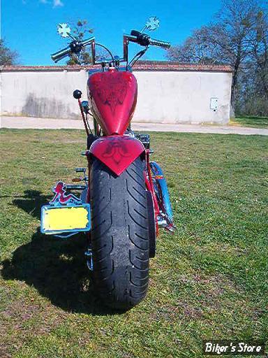 "2007 - 3 Sportster Rigide ""Chopper"", avec pneu de 200."