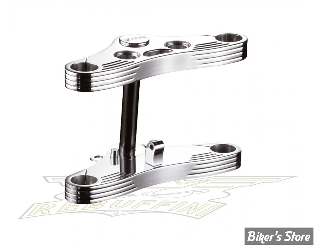 KIT TES LARGES - REBUFFINI - SPORTSTER 08/13 - FOURCHE DE 39MM - WIDE GLIDE - INCLINAISON : 4° - CHROME