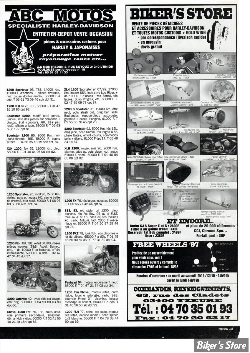 PREMIERE PUBLICITE DANS LA PRESSE :  JUILLET 1997...