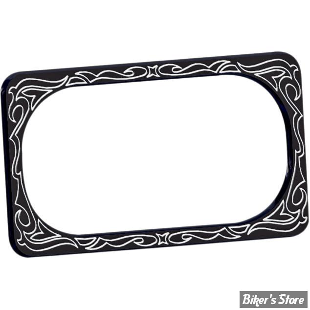 entourage de plaque arlen ness engraved noir biker 39 s store. Black Bedroom Furniture Sets. Home Design Ideas