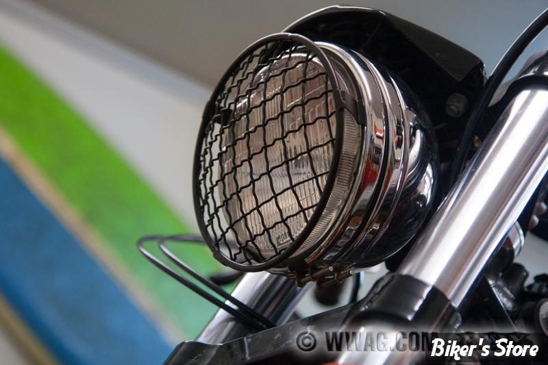 5 3 4 grille de phare bates baja noir biker 39 s store. Black Bedroom Furniture Sets. Home Design Ideas