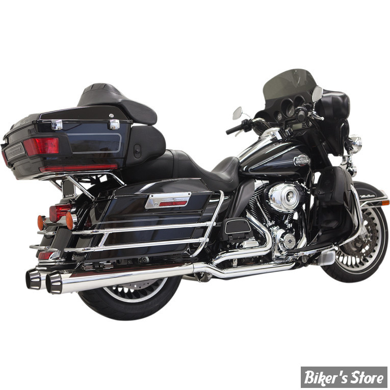ECHAPPEMENT BASSANI - TRUE DUAL DOWN UNDER - TOURING 09/16 - MEGAPHONE - CHROME