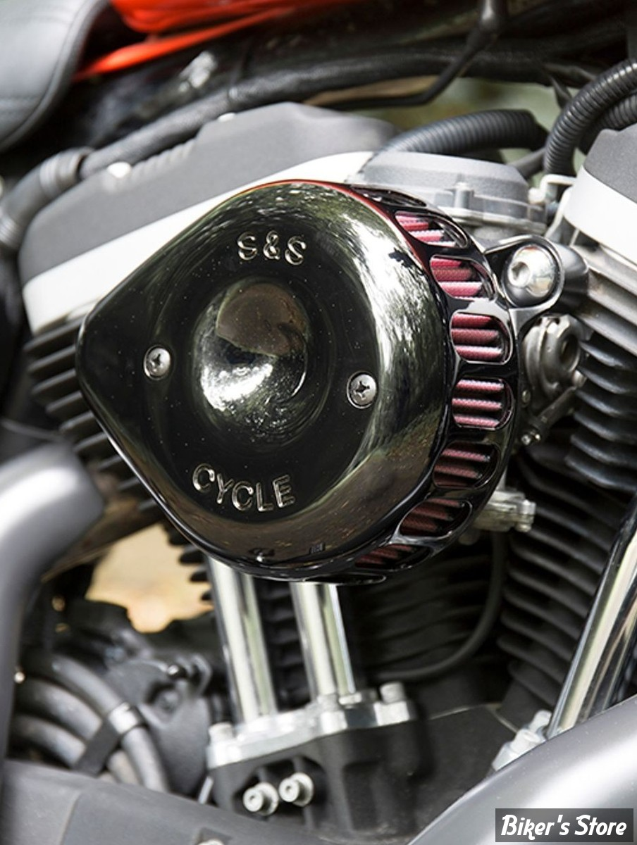 SS - KIT FILTRE A AIR SS - TEARDROP - MINI TEARDROP STEALTH AIR CLEANER KIT - SPORTSTER 91/03 A CARBURATEUR S&S - NOIR - 170-0448