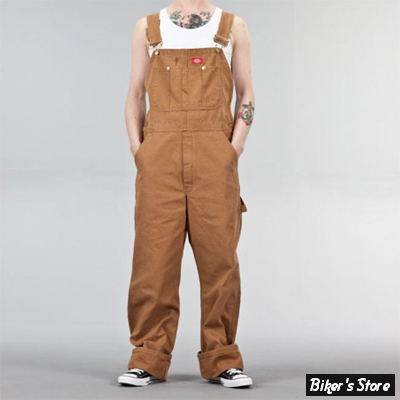 SALOPETTE - DICKIES - BIB OVERALL DUCK - MARRON CLAIR - TAILLE US 40/32