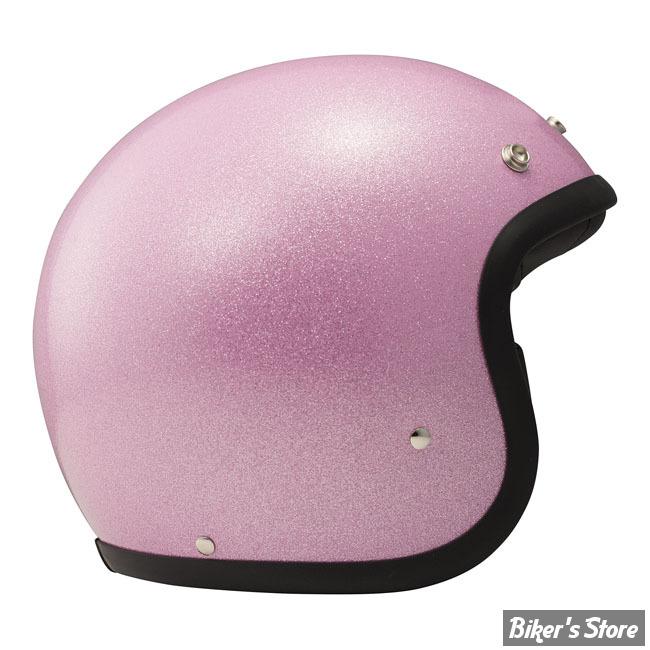 CASQUE JET - DMD - VINTAGE GLITTER PINK - COULEUR : ROSE - TAILLE 4 / L