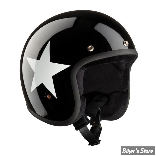 CASQUE JET - BANDIT - STAR - COULEUR : BLACK / WHITE - TAILLE 1 / XS