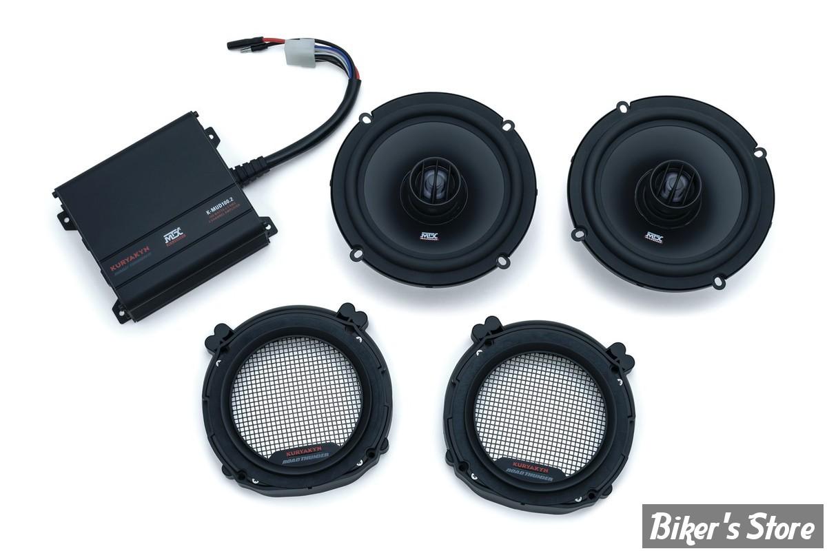 kit sono kuryakyn touring 98 13 road thunder fairing speaker kit by mtx noir satin. Black Bedroom Furniture Sets. Home Design Ideas