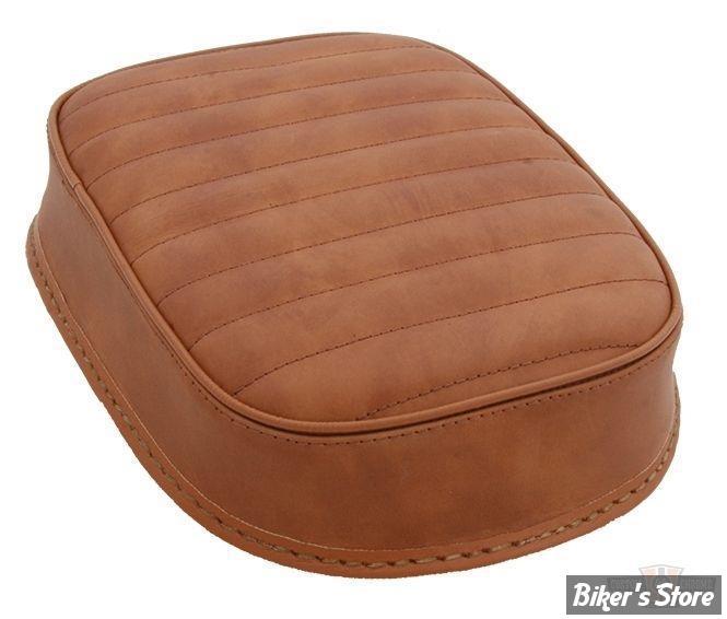 pouf a ventouses custom chrome 5 stars 25x19cm horizontal cuir marron biker 39 s store. Black Bedroom Furniture Sets. Home Design Ideas