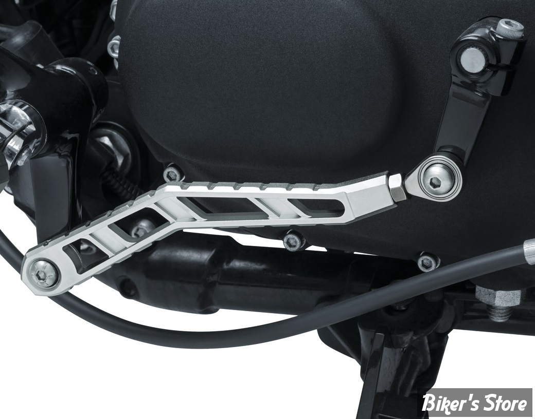 KIT TIGE DE SELECTEUR - SPORTSTER 04UP - KURYAKYN - RIOT SHIFT LINKAGE - FINITION : ARGENT - 3572