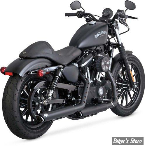 Silencieux Vance & Hines Twin Slash - Sportster 2014up - Noir - 46861