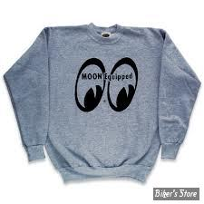 SWEAT SHIRT - MOON - MOON EQUIPPED - COULEUR : GRIS CHINE - TAILLE M