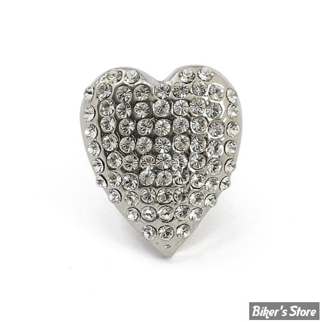 EMBLÊME D'ENTOURAGE DE PLAQUE D'IMMATRICULATION - DIAMONDS HEART