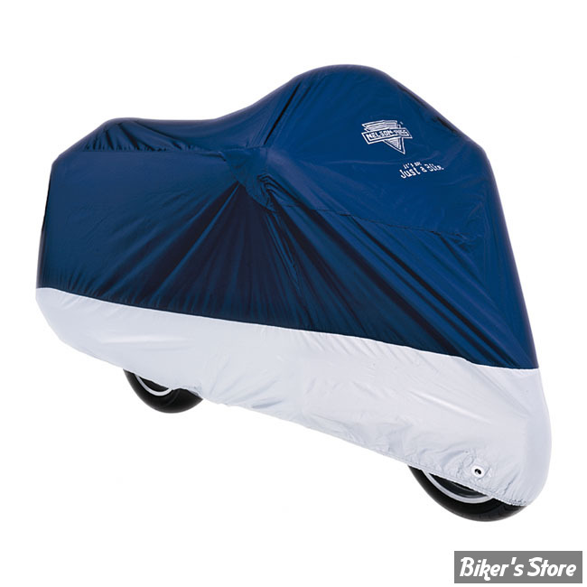 HOUSSE MOTO NELSON RIGGS - MC-902 - DELUXE - NAVY/ARGENT - TAILLE L