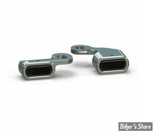 1 - CLIGNOTANT A LEDS - THUNDERBIKE - STRIPE MICRO - 96up - CORPS : POLI - CABOCHON : TRANSPARENT