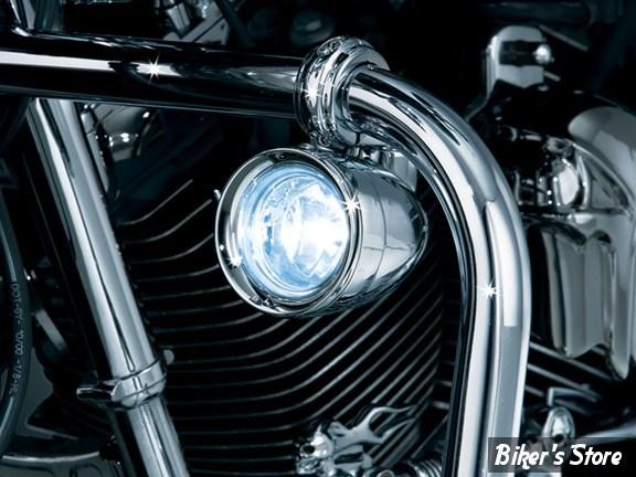 feux additionnels kuryakyn kit pour pare cylindres 1 1 4 chrome 5019 biker 39 s store. Black Bedroom Furniture Sets. Home Design Ideas