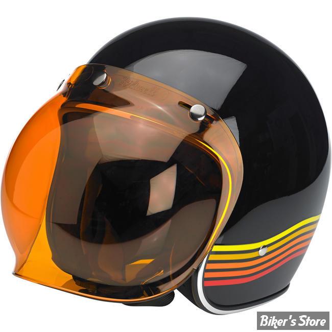 biltwell visiere pour casque jet open face 3 4 bubble shield couleur orange anti buee. Black Bedroom Furniture Sets. Home Design Ideas